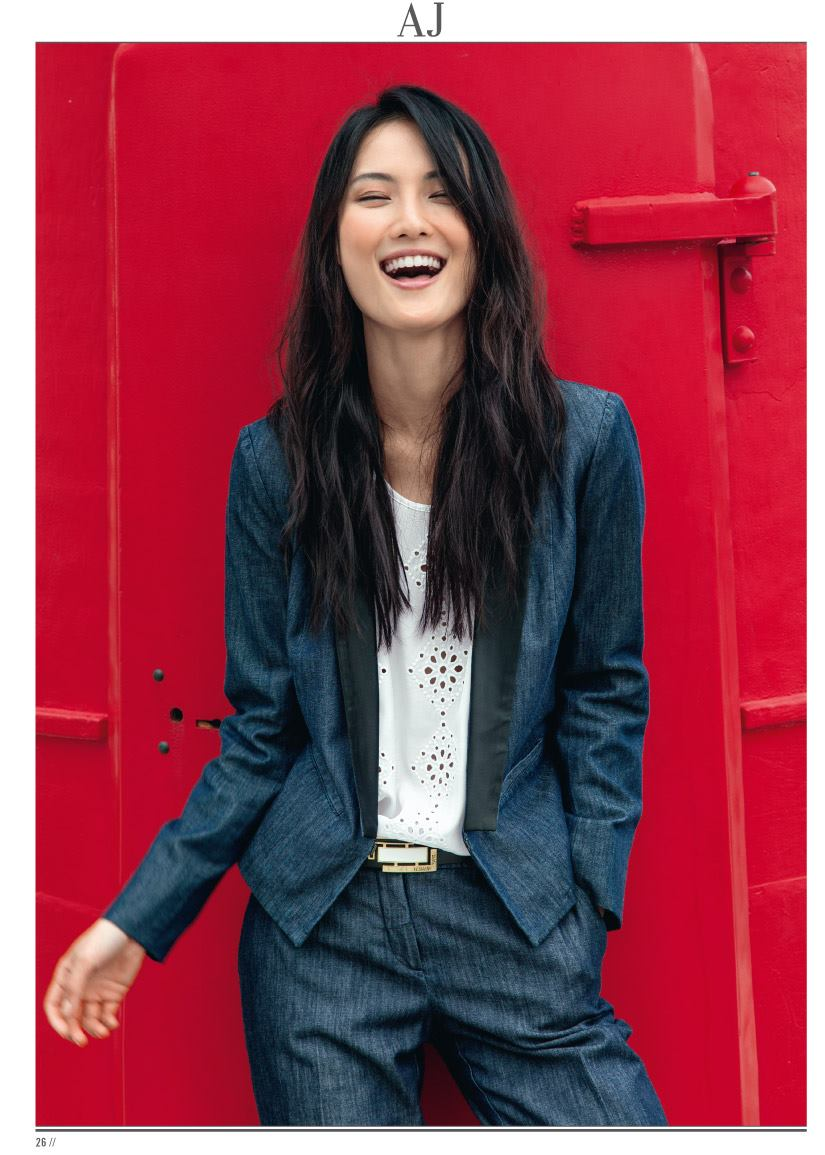 Gia先前為Armani Jeans拍攝廣告(圖/Gia Tang)Gia先前為Armani Jeans拍攝廣告(圖/Gia Tang)