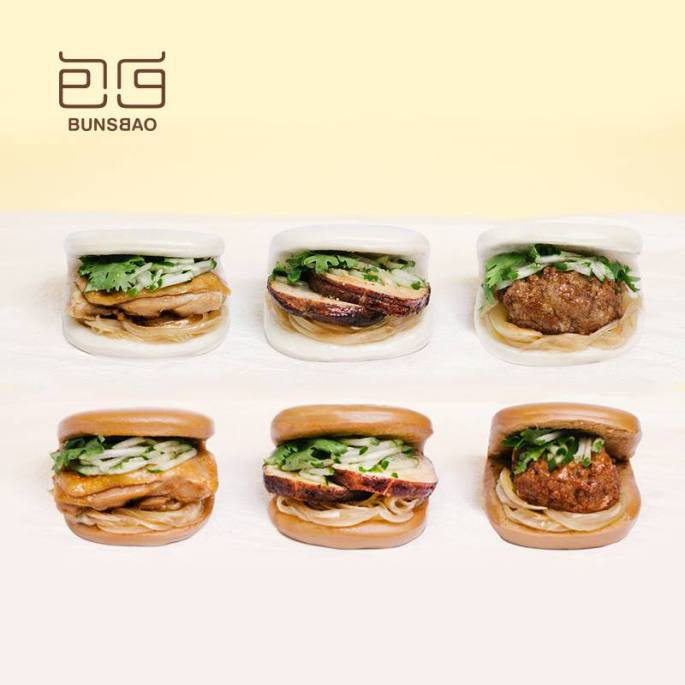 包包bunsbao的刈包麵皮分為原味和黑糖兩種,內餡也有豬、雞、牛、菇類等四種,目前正著手進行開發全新口味(圖/包包bunsbao FB)