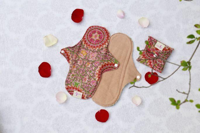 棉樂悅事工坊的布衛生棉共有六種版型,圖為一般日用型(圖/棉樂悅事工坊FB)