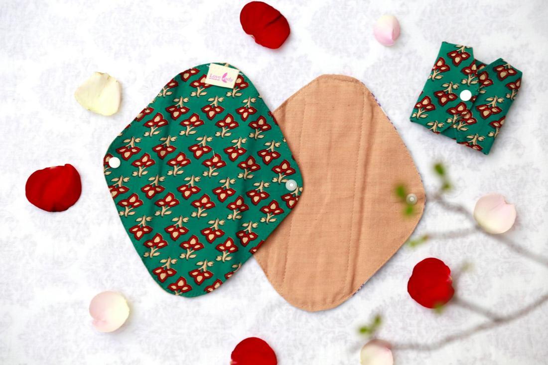 棉樂悅事工坊的布衛生棉共有六種版型,圖為護墊(圖/棉樂悅事工坊FB)
