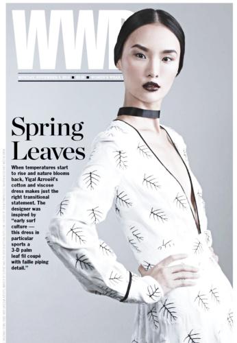 在登上《VOGUE》封面之前,唐熒霜就已先成為《WWD》的封面人物(圖/Gia Tang)